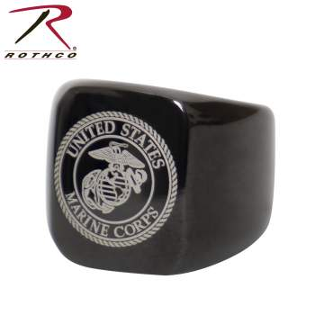 marine corps, usmc, stainless steel ring, usmc eagle globe and anchor, military ring, marine corps ring, military pride, marine pride, usmc pride, rothco, rothco marines, marine gift ideas, usmc gift ideas, marine insignia, usmc insignia,
