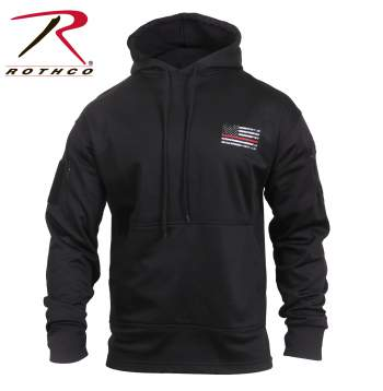 Rothco Thin Red Line Concealed Carry Hoodie, Thin Red Line, Thin Red Line Flag, TRL, Concealed Carry Hoodie, Thin Red Line Concealed Carry Hoodie, Thin Red Line Hoodie, Red Line Hoodie, Thin Red Line Sweatshirt, Hoodie, Red Line, Rothco, cc hoodie, ccw, sweatshirt, ccw sweatshirt, Thin Red Stripe, Thin Red Stripe Jacket, Thin Red Stripe Hoodie