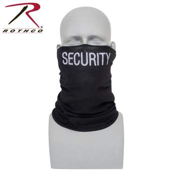 Rothco multi-use tactical wrap with security print, multi-use tactical wrap, multi-use tactical wrap, tactical wrap, multiple uses, tactical headwrap, tactical headwrap, head wrap, bandana, bandana, neck gaiter, dust screen, balaclava, hat, scarf, tactical wrap, multi-use bandana, neck buff, buff, face shield, neck shield, full face mask, face mask, face covering, bandana face cover, face cover, balaclava mask, fishing neck gaiter, face mask for men, half face mask, mens neck gaiter, fishing face cover, reusable face mask, neck gaiter military, balaclava face mask, face cover mask, bandana face mask, half balaclava, ski balaclava, tactical balaclava, ski neck gaiter, hunting neck gaiter, security print, security design, , PPE, personal protection equipment, security guard, security guard face mask, security guard neck gaiter, public safety, public safety uniform,