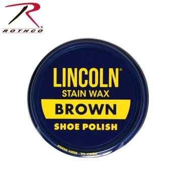 Lincoln Stain Wax Shoe Polish - Brown