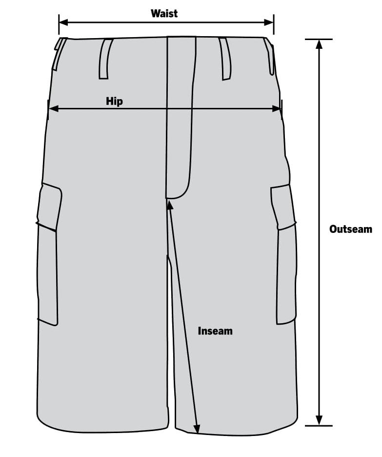 Rothco MA-1 Flight Jacket Sizechart