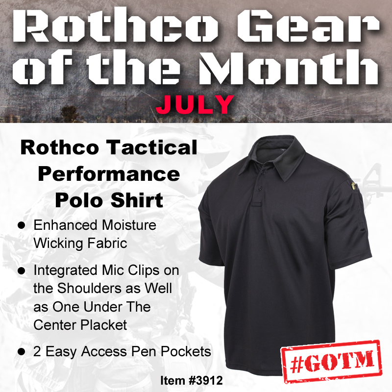 Gear of the month, gotm, tactical polo, tactical shirt, uniform shirt, polo,