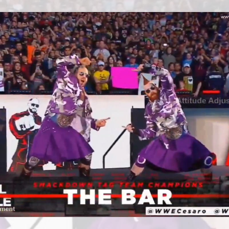 Cesaro and Sheamus In Purple Camo