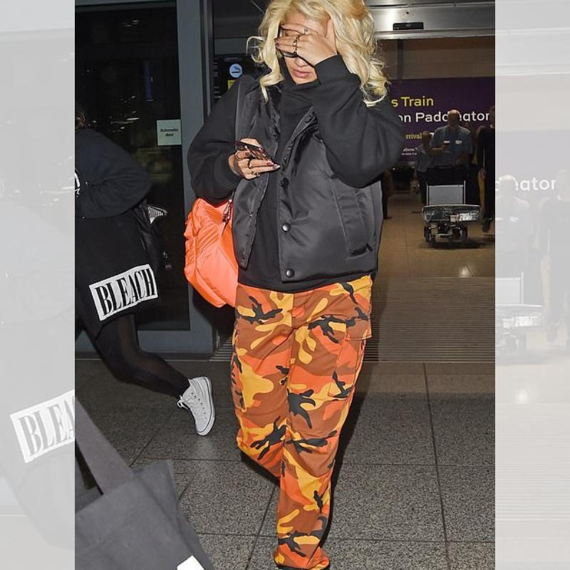Rita Ora in Rothco's Camo Pants