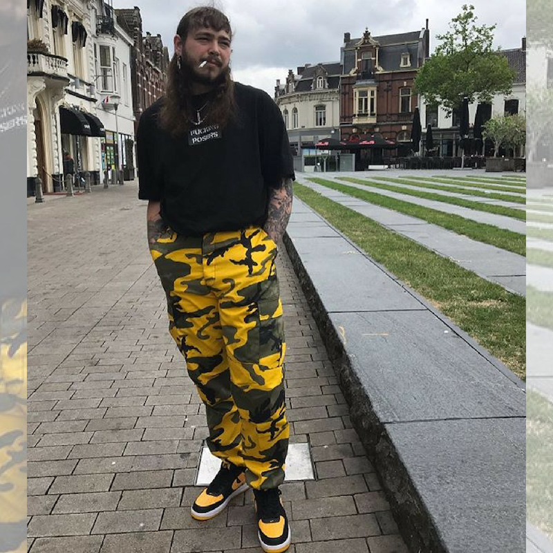 Post Malone in Rothco Camo Pants