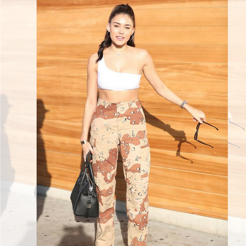 Singer Madison Beer in Camo