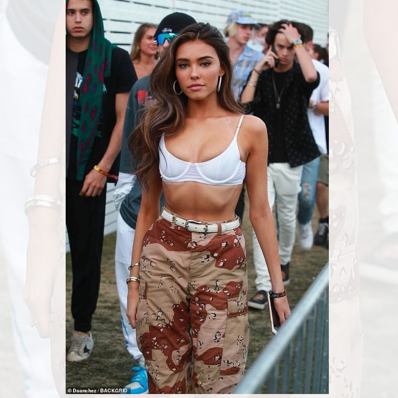 Madison Beer In The Desert With Our Desert Camo