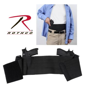 Rothco ambidextrous concealed elastic belly band holster, ambidextrous, concealed carry, belly band holder, concealed carry belly band holder, firearm accessories, concealed carry firearm band, body holster, belly band holster, bellyband holster, holster, gun holster, gun holder, belly band holsters, elastic belly band holster, belly holsters, concealment holsters, concealment, concealed holsters, concealment holster, concealed carry holster, inside the waist band, IWB, discreet carry