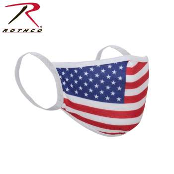 Rothco Reusable 3-Layer Polyester Face Mask, Polyester Face Mask, Reusable Face Mask, Face Mask, Mask, surgical masks, medical face mask, us flag print, America, flag, surgical face mask, face cover, best face mask, germ mask, COVID-19, coronavirus, coronavirus protection, antiviral face mask, flu mask, germ mask, antiviral mask, face mask for flu, masks for viruses, earloop face mask, virus mask, earloop mask, face mask antiviral, virus face mask, bandana