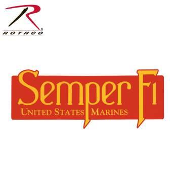 USMC Semper Fi Bumper Sticker, marines bumper sticker, bumper sticker, semper fi, usmc, car decal, car sticker, rothco