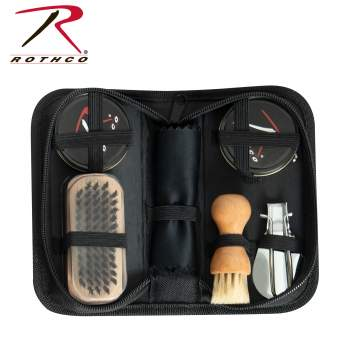 Rothco Compact Shoe Care Kit, compact shoe care kit, shoe cleaner, shoe cleaning kit, shoeshine kit, shoe polish kit, boot cleaning kit, shoe restoration kit, boot care kit, boot polish kit, boot shine kit, leather care kit, leather shoe care kit, shoe kit, shoe cleanser