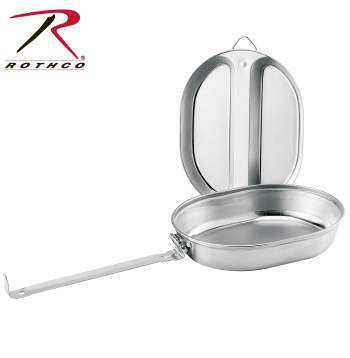 mess kit, stainless steel mess kit, military mess kit, army mess kit, camping mess kit, outdoor gear, outdoor accessories, camping gear, military gear, outdoor equipment, supplies for camping, cooking, camp cooking