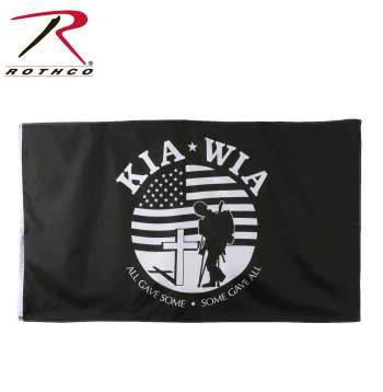 KIA-WIA Flag, flag, kia, wia, killed in action, wounded in action, military flags, wholesale military flags, kia flag, army flags, us flags