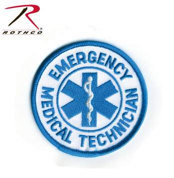 Rothco Round EMT Patch, emt patch, round emt patch, patch, emt, rothco, emergency medical technician, emergency medical technician patch