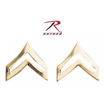 Rothco Corporal Polished Insignia, corporal, corporal insignia, insignia, corporal pin, pin