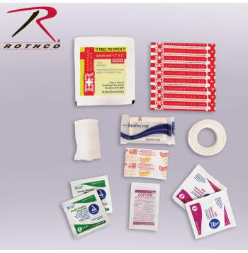 Rothco Military Zipper First Aid Kit Contents, First Aid Kit, First Aid Kit Contents, Medical Aid Kit Contents, Medical Kit Contents, First Aid Bag Contents, military first aid kit, military first aid kit contents, military medical kit