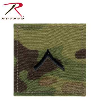 Rothco Official U.S. Made Embroidered Rank Insignia - Private, insignia rank, insignia, patches, Private rank patch, multicam rank patches, acu rank patches, multicam, OCP, Scorpion, OCP Scorpion, OCP camo, SCORPION OCP Camo, army private insignia, army rank insignia, private rank insignia, private class rank symbol, army enlisted insignia patch, private military rank, private class patch, private class insignia, private class rank symbol, private class military rank, military insignia, military insignia patch, military patch, army insignia, army patch, army insignia patch, military rank insignia