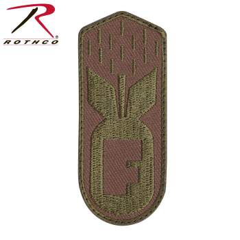 Rothco F-Bomb Patch With Hook Back - Coyote Brown, F-Bomb Patch, Bomb Patch, Morale Patch, F-Bomb Morale Patch, Airsoft Patch, Funny Patch, atomic Bomb Patch, f bomb patch, tactical patch, tactical morale patches, funny morale patches, funny tactical patches, velcro patch, tactical patches, airsoft patches, military velcro patches