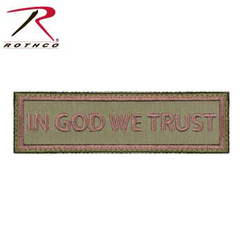 Rothco In God We Trust Patch, in god we trust morale patch, morale patch, in god we trust patch, airsoft, airsoft patch, velcro patch, patches, funny morale patches, tactical patches, tactical morale patches, tactical airsoft patches