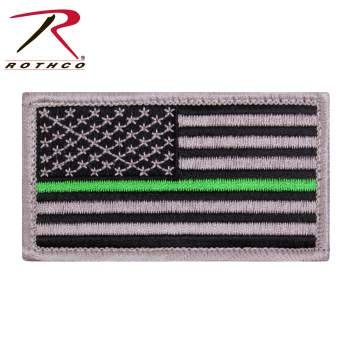 Morale patch, patch, US Flag, Thin Green Line, Thin Green Line Flag, Velcro patch, airsoft patch, park ranger merchandise, thin green line merchandise, thin green line clothing, thin green line apparel, paint ball patch, morale velcro patch, hat patch, vest patch,