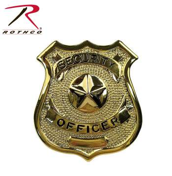Rothco Security Officer Badge, badges, public safety badges, security officer, security officer, special officer, badge, shield, security shield, gold badge, gold shield, gold security shield, security