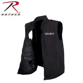 Rothco Concealed Carry Soft Shell Security Vest, Concealed Carry, Security Vest, Soft Shell Vest, Security Uniform, Security Job Uniform, Security Printed Uniforms, Concealed Carry Vest, Security Job Vest, Vests, Soft Vests, Mens Vests, Law Enforcement Uniform,
