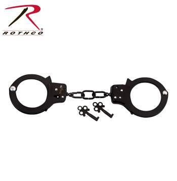 handcuffs,hand cuff,cuffs,hand cuffs,manacles,chain cuffs,military tactical equipment,military gear,police gear,police supplies,police cuffs,handcufs,restraints,double lock,black handcuffs,