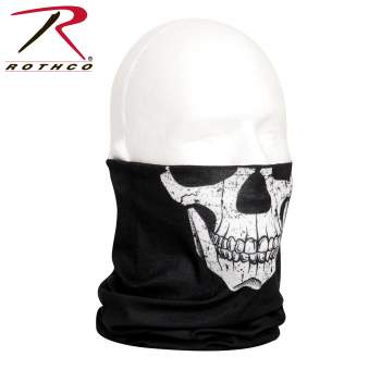 Rothco multi-use tactical wrap, Rothco multi-use tactical wrap, multi-use tactical wrap, multi-use tactical wrap, tactical wrap, multiple uses, tactical headwrap, tactical headwrap, head wrap, bandana, bandana, neck gaiter, dust screen, balaclava, hat, scarf, tactical wrap, multi-use bandana, neck buff, buff, face shield, neck shield, black skull, skull print, military skull, tactical skull