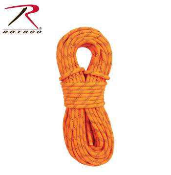 Rothco,Orange Rescue Rappelling Rope,mountain rope,rock climbing equipment,rescue rope,rescue gear,rescue equipment,equipment climbing,rock climbing,orange rescue rope,orange mountain rope,orange rope,rope