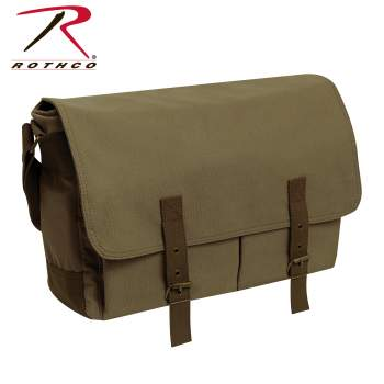 Rothco's Deluxe Vintage Canvas Messenger Bag, messenger bags for men, canvas messenger bag, messenger bag, courier bag, courier, messenger handbag, messenger purse, bag, school bag, travel bag, courier, kit, travel, durable bag, canvas bag, cotton bag