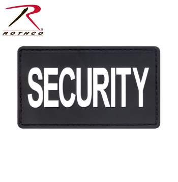 Rothco PVC Security Patch With Hook Back, PVC, patch, morale match, security patch, security