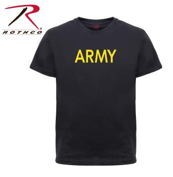 Rothco Kids Army Physical Training T-Shirt, t-shirt for kids, kids t-shirts, kids, tees, kids gym shirt, P/T Shirts for kids, Army P/T Shirts for kids, Physical Training Tees, Physical Training Ts for kids, P/T T-shirts,Army, PT shirt, kids PT shirt, Kids Athletic T-Shirt, military shirt, military shirt for kids