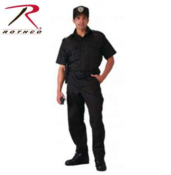 Rothco, Short Sleeve, Tactical Shirt, Tactical, mens shirts, tactical shirts, uniform shirts, law enforcement shirts, law enforcement uniforms,  public safety shirts, polyester, cotton, button down shirts, work shirts, black, poly cotton