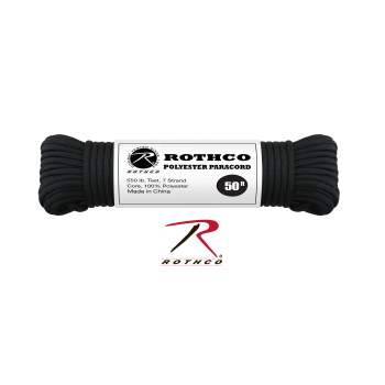Rothco 550lb Type III Polyester Paracord, polyester paracord, para cord, paracord, poly cord, 550 cord, survival cord, 550 paracord, paracord supplies, bulk paracord, wholesale paracord, paracord bracelet supplies, paracord survival bracelet, wholesale parachute cord, parachute cord,550 parachute cord, paracord wholesale, paracord 550, parachute cord, military gear, survival gear