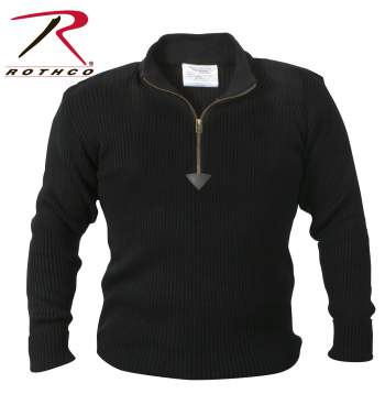 Rothco,Commando Sweater,sweater,casual wear,outerwear,long sleeves,military sweaters,winter sweaters,cardigan,cardigan sweaters,acrylic sweaters,acrylic,olive drab,zip up sweater,1/4 zip up sweater,black, military sweater, mens military sweater, acrylic sweater, commando sweater, army sweater, tactical sweater