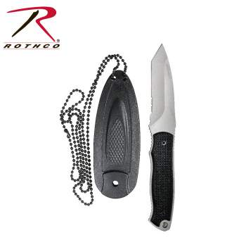 Rothco Neck Knife,neck knife,neck knives,knife,knives,stainless steel blade,tactical knife,tactical knives,sheath,zombie,zombies