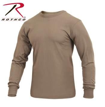 Rothco Long Sleeve Solid T-Shirt, long sleeve t-shirt, long-sleeve t-shirt, t-shirts, tee shirts, t-shirt, long sleeve shirt, t-shirt, long sleeve shirt, casual top, casual top, poly cotton t-shirt, poly/cotton shirt, long sleeve shirt, military-style long sleeve shirt, long sleeve casual shirt, solid color long sleeve