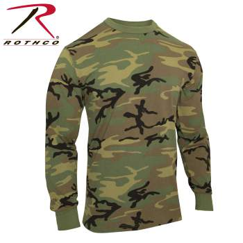 Camo long sleeve tee shirt, camouflage long sleeve t-shirt, vintage camo long sleeve t-shirt, camouflage long sleeve tee, vintage camouflage long sleeve t-shirt, camo, camouflage, woodland camouflage, woodland camo, classic camo, military camo long sleeve t-shirt, long-sleeve t-shirt, tagless long sleeve t-shirt, woodland camo, wholesale camouflage,