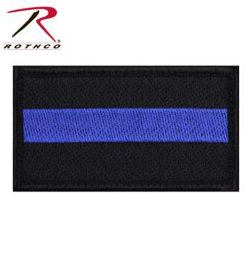 Rothco Thin Blue Line Patch With Hook Back, thin blue line patches, thin blue line, the blue line, thin blue line flag, black and white american flag, tactical patches, blue line police, blueline police, police flag, blue line flag, police symbol, black flag with blue stripe, thin blue line patch, morale patches, thin blue line patch, thin blue line flag patch,
