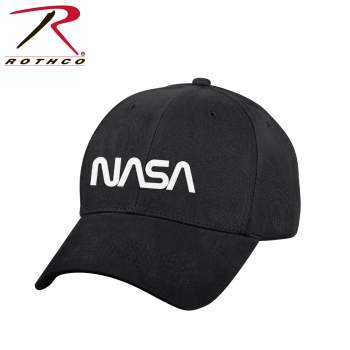Rothco NASA Worm Logo Low Profile Cap - Black, NASA Worm Logo Hat, NASA Worm Logo Cap, Low Profile Hat, Low Profile Cap, NASA Hat, NASA Cap, NASA Dad Hat, Space Hat, NASA Baseball Cap, NASA Trucker Hat, NASA Logo, NASA Logo Hat, NASA Logo Cap, NASA Symbol, NASA Symbol Hat, NASA Merch, NASA Apparel, NASA Merchandise, NASA Worm Logo, Astronaut Logo, NASA Emblem, Tactical Hat