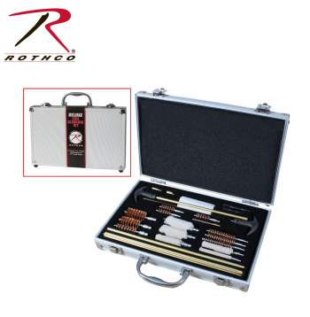 gun cleaning kit,cleaning kit,tactical cleaning kit,gauge brush,handgun cleaner,rifle cleaner,shotgun cleaner,pistol cleaning kit,9mm cleaning kit, shooting accessories, gun cleaning kits, Rothco Deluxe Gun cleaning kit, gun cleaning supplies, gun cleaning equipment,