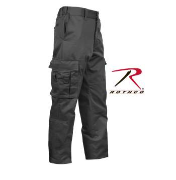 Rothco,Deluxe,EMT Pant,Cargo pants,work wear,work pants,emt clothing,emt trousers,emt pants,uniforms pants,cargo pants,poly cotton,polyester cotton,black pants,black emt pants