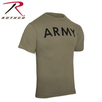 Rothco AR 670-1 Coyote Brown Army Physical Training T-Shirt, PT shirts, military training shirts, physical training shirt, army pt clothes, army pt shirts, military pt shirt, AR 670-1 Coyote Brown, pt gear, army shirt, physical training army shirt