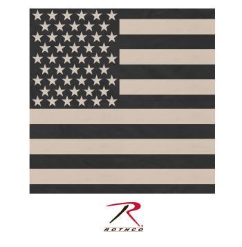 bandana, bandanas, us flag bandana, subdued us flag bandana, rothco bandana, subdued bandana, kerchief