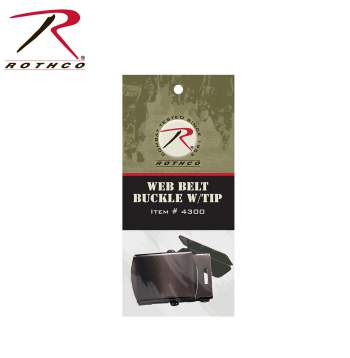 Rothco G.I. Type Web Belt Buckle And Tip Pack, belt buckles, web belt buckles, buckle, tip pack, buckle and tip pack, military-style belts, military belt tips, G.I. Web Belt Buckle, metal buckle, military web belt buckles, navy web belt buckles, army belt buckle, military belt buckles