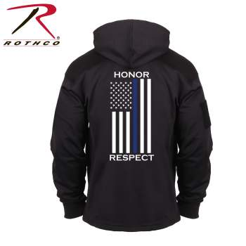Rothco Honor and Respect Thin Blue Line Concealed Carry Hoodie, thin blue line, concealed carry hoodie, concealed carry, discreet carry, discreet carry hoodie, honor, respect, hoodies, concealed carry sweatshirts, concealed carry hoodies, thin blue line hoodie, thin blue line sweatshirt, thin blue line flag, the thin blue line, thin blue line support,