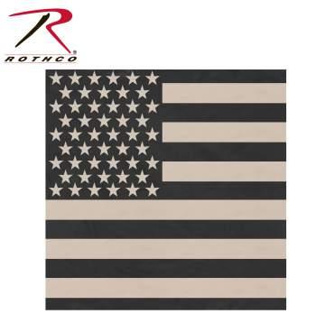 bandana, bandanas, us flag bandana, subdued us flag bandana, rothco bandana, subdued bandana, kerchief, face covering, face cover, cotton bandana, american flag bandana, face wrap, american pride, american pride bandana