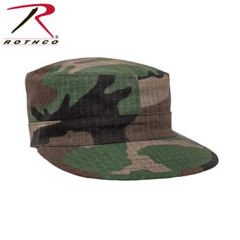 Rothco Ranger Fatigue Hat,army ranger hat,army ranger cap,fashion hats,army caps,ranger cap,military wear,military cap,hat,hats,cap,caps,woodland camo fatigue hat,woodland camo ranger fatigue hat,woodland camo ranger hat,map pocket,ranger cap with map pocket