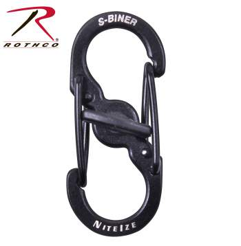 Nite-ize S-Biner Micro Lock, Micro lock, lock, carabiner , key holder, camping, strong, high quality, stainless steel, durable, nite ize, s biner, key ring, camping supplies, backpacking, backpacking supplies,
