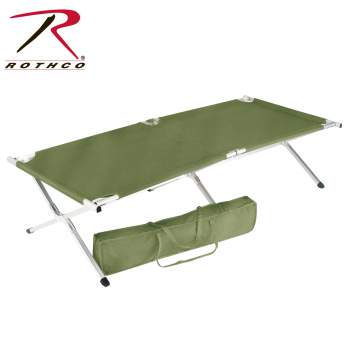 Folding Cot,fold up cots,military folding cot,folding camp cot,sleeping cot,folable cot,folding camping cots,gi cot,military style cot,army cot,military cot,military gear,oversized cot,large cot, sleeping cot, foldable cot, military sleeping cot, emergency sleeping cot, emergency cot, large cot, two person cot, cot, rothco cot,